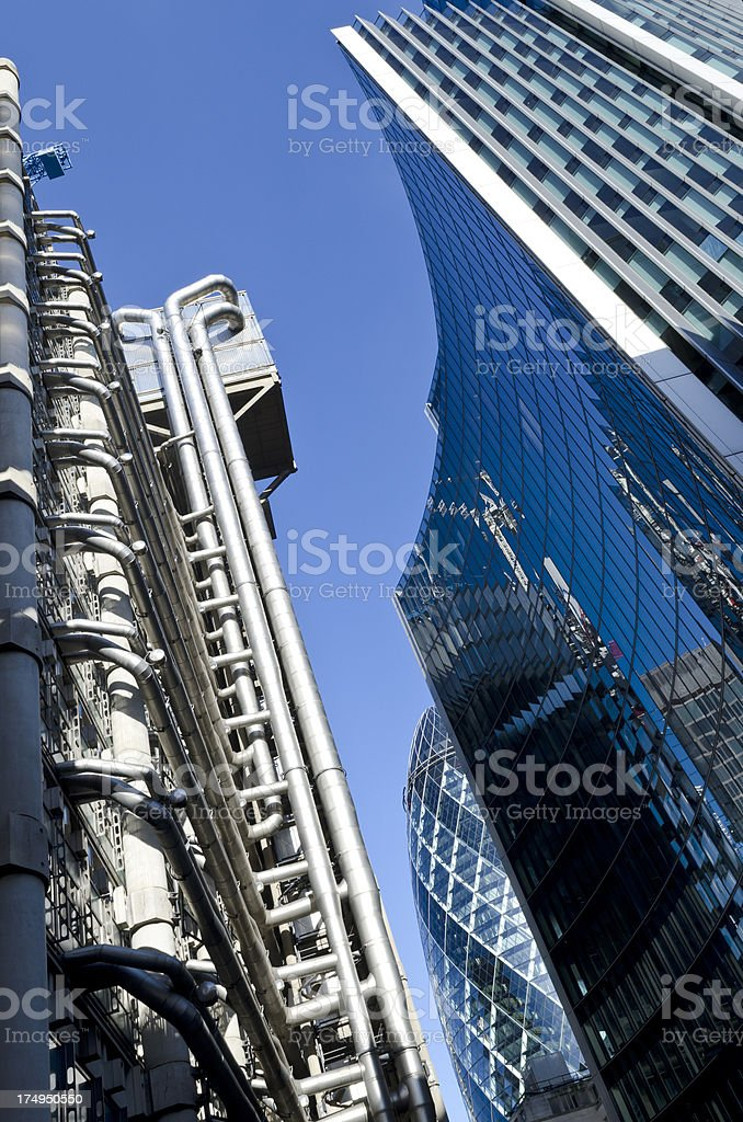 Financial skyscrapers, London royalty-free stock photo