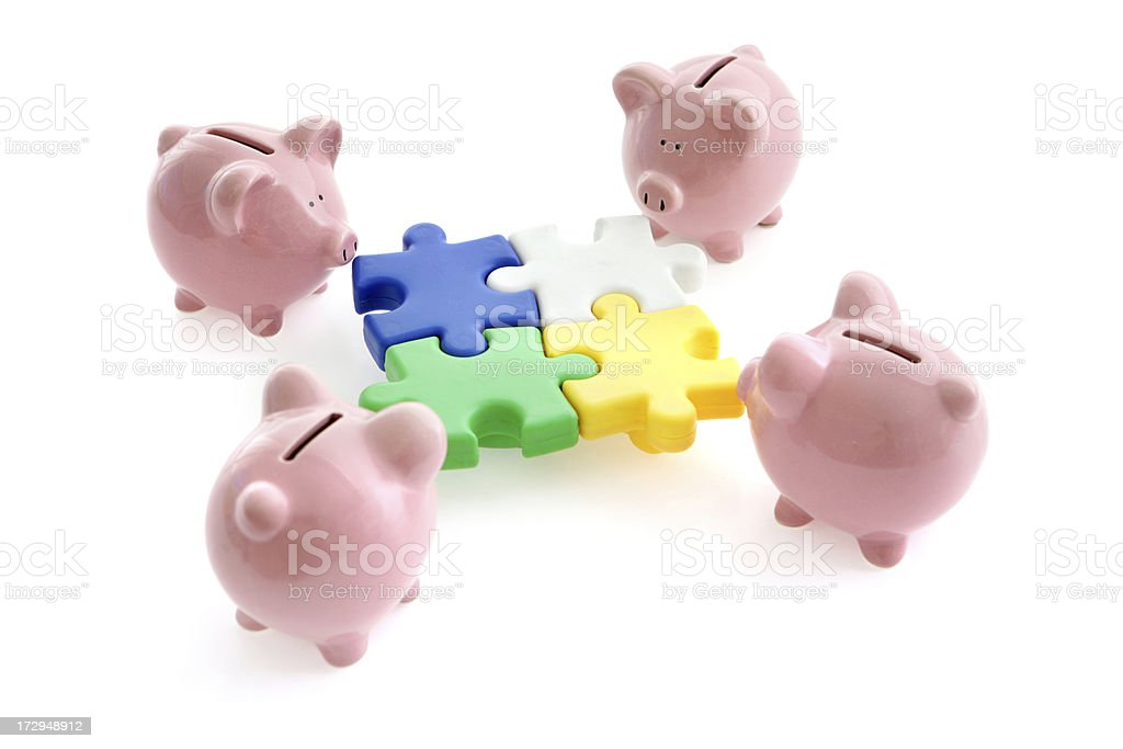 Financial Solutions stock photo