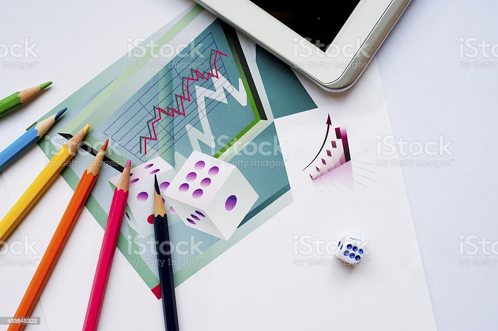 Financial statements, Painted Figure royalty-free stock photo