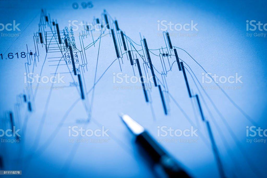 Financial Stock Chart stock photo