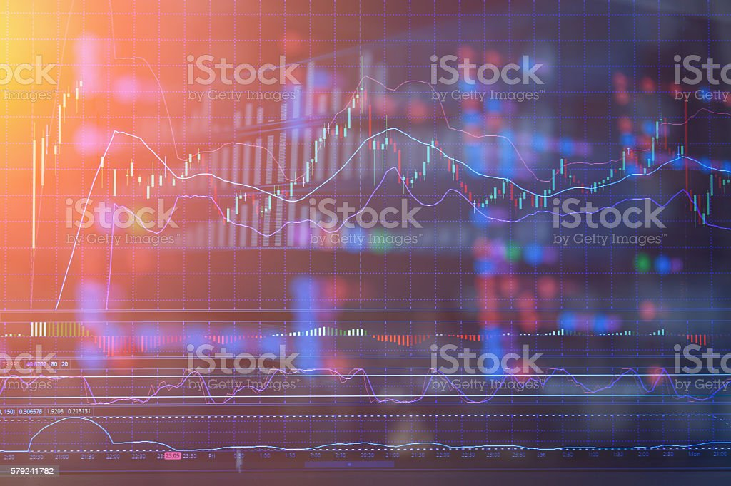 financial Stock market graph ananlysis stock photo