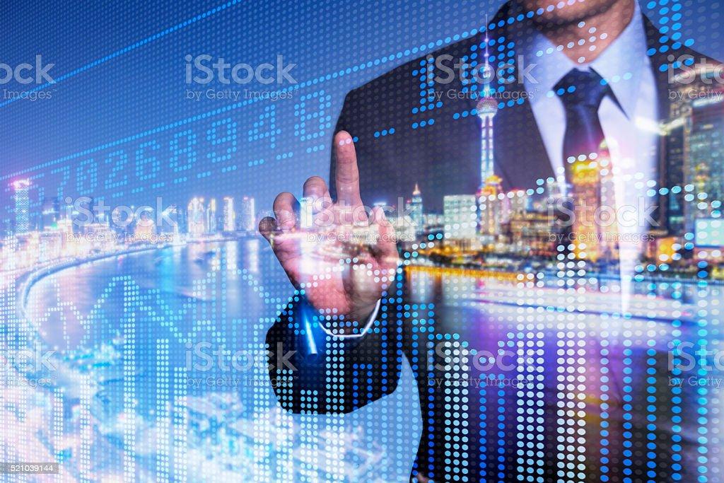 financial stock price stock photo
