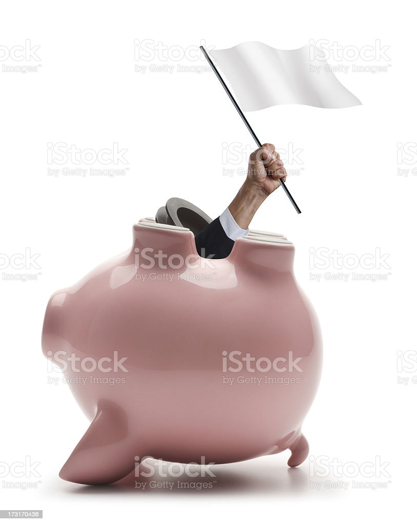 Financial Surrender royalty-free stock photo