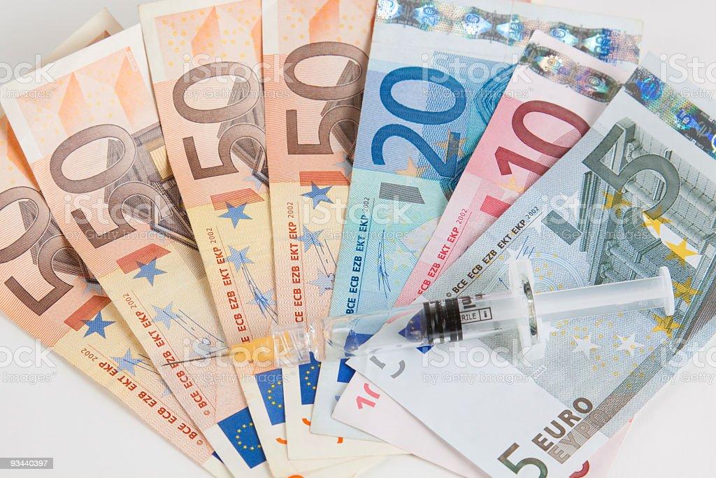financial syringe royalty-free stock photo