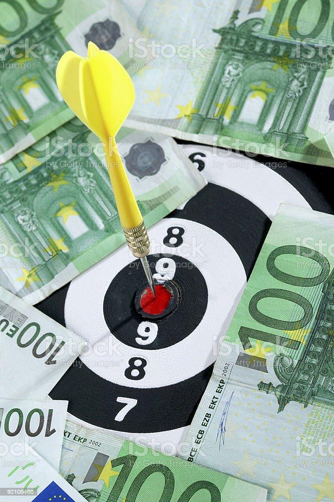 Financial target stock photo