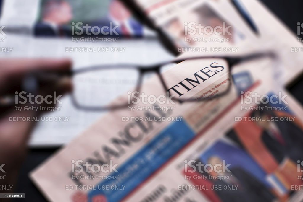 financial times newspaper stock photo