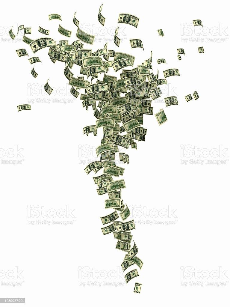 Financial Tornado royalty-free stock photo