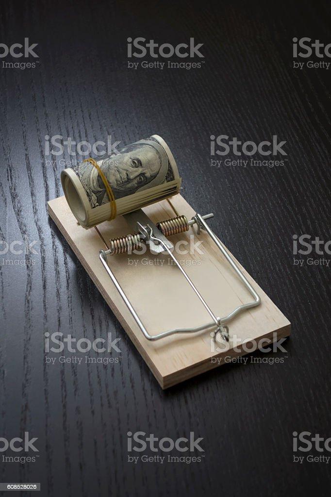 Financial trap stock photo