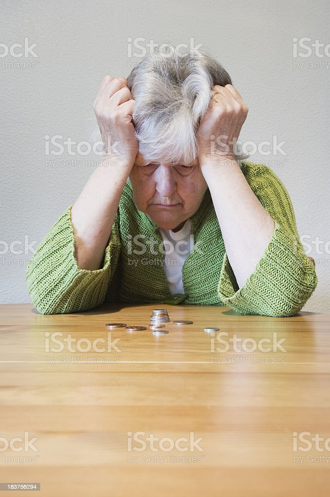 Financial troubles stock photo