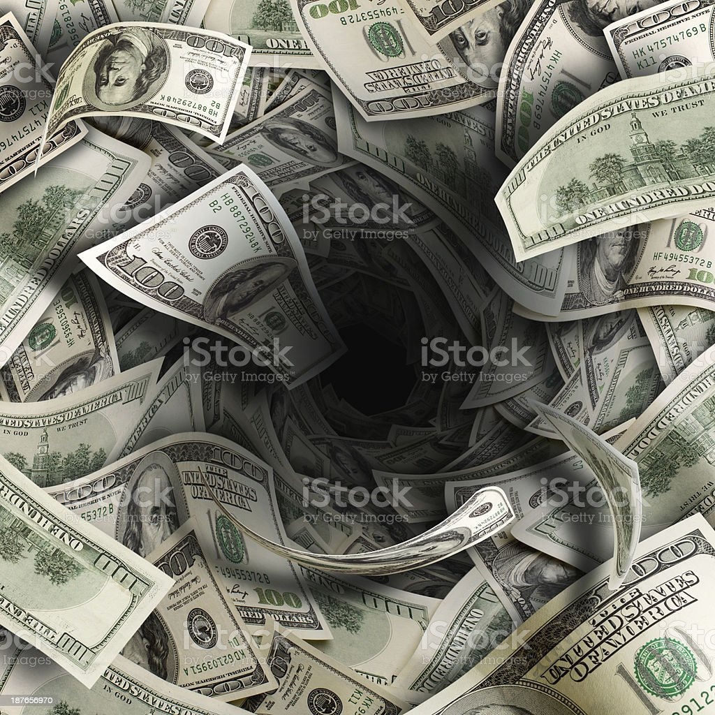 Financial tunnel stock photo