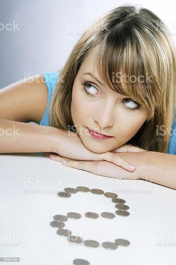 financial uncertainty royalty-free stock photo
