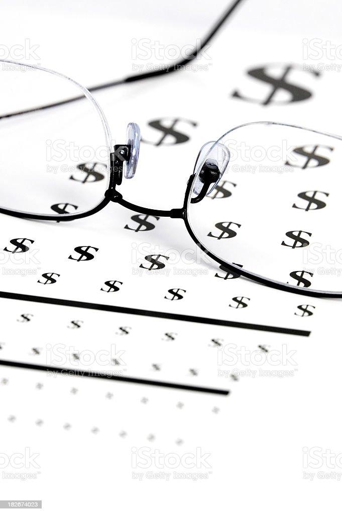 Financial visione occhio grafico - 2 foto stock royalty-free