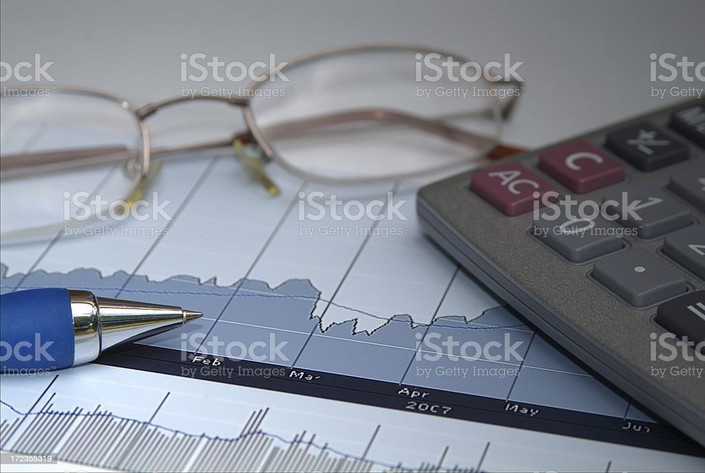 Financial Watch royalty-free stock photo