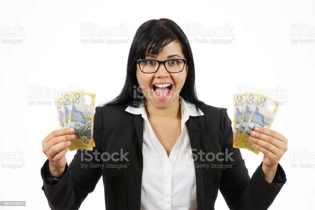 Financial Winner stock photo
