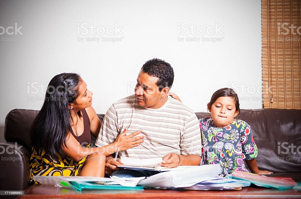 Financial worry royalty-free stock photo