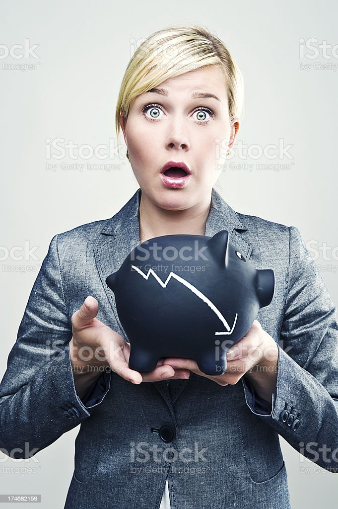 Finanicial Crisis royalty-free stock photo