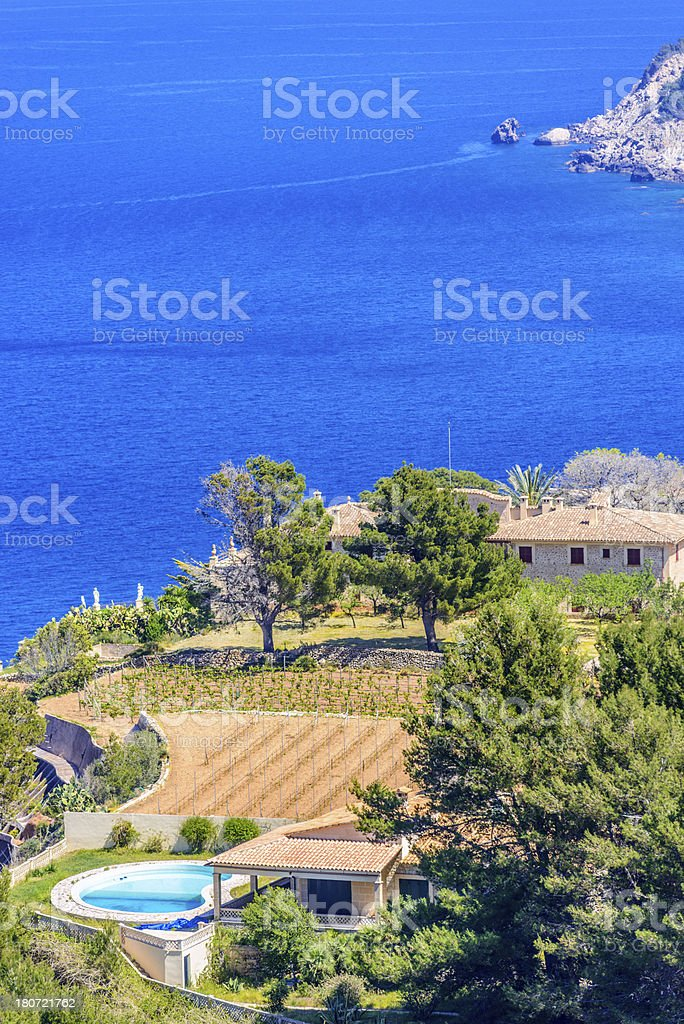 Fincas in Majorca (Mallorca) royalty-free stock photo