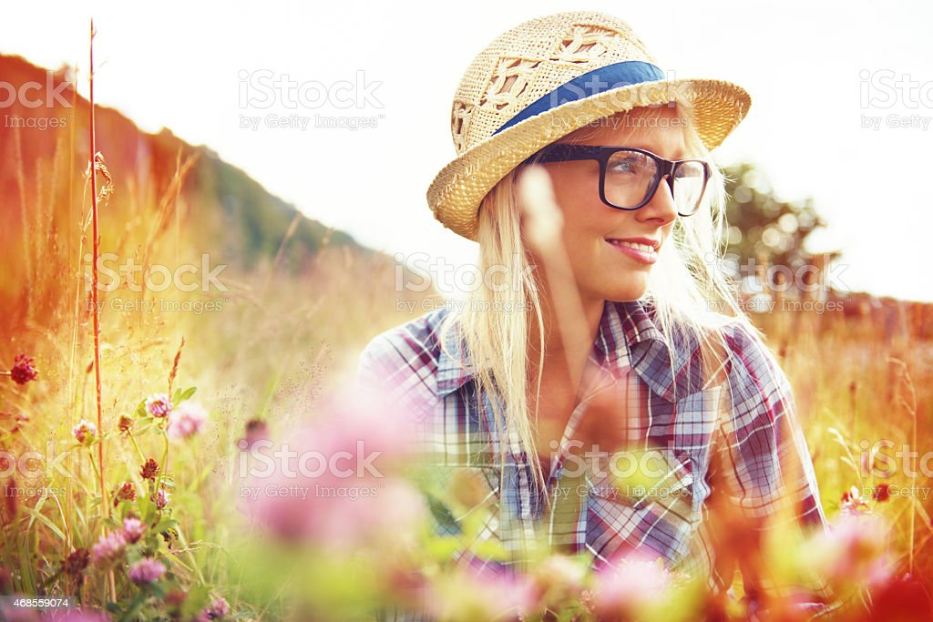 Find a beautiful place and get lost stock photo