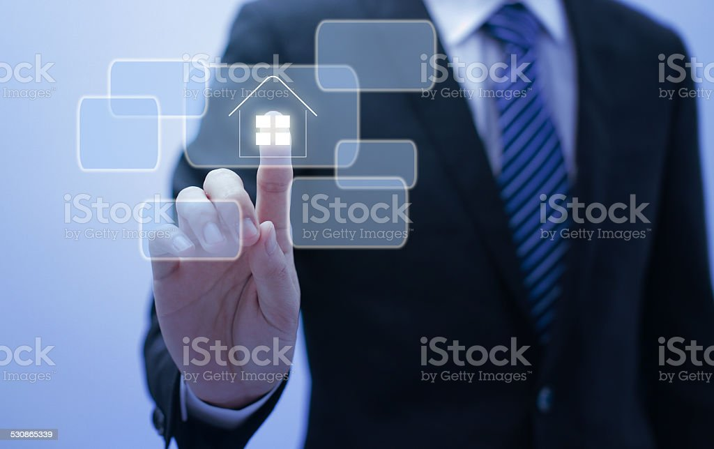 find a house in internet stock photo