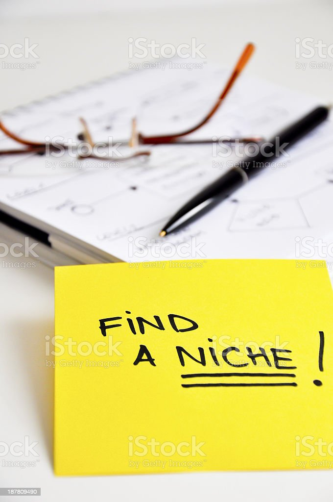 find a niche in your market stock photo