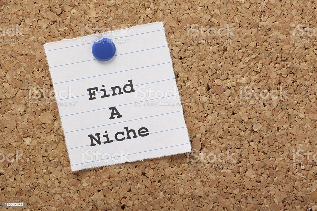 Find A Niche royalty-free stock photo