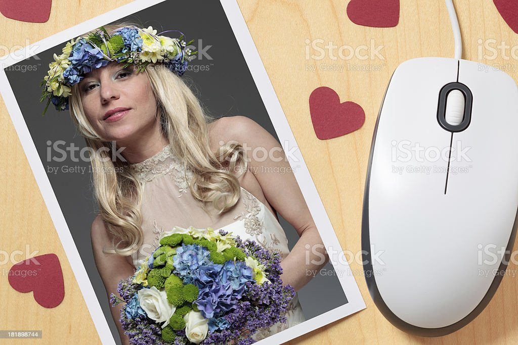 Find a wife online royalty-free stock photo