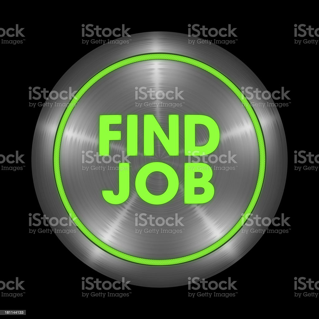 Find Job Button royalty-free stock photo