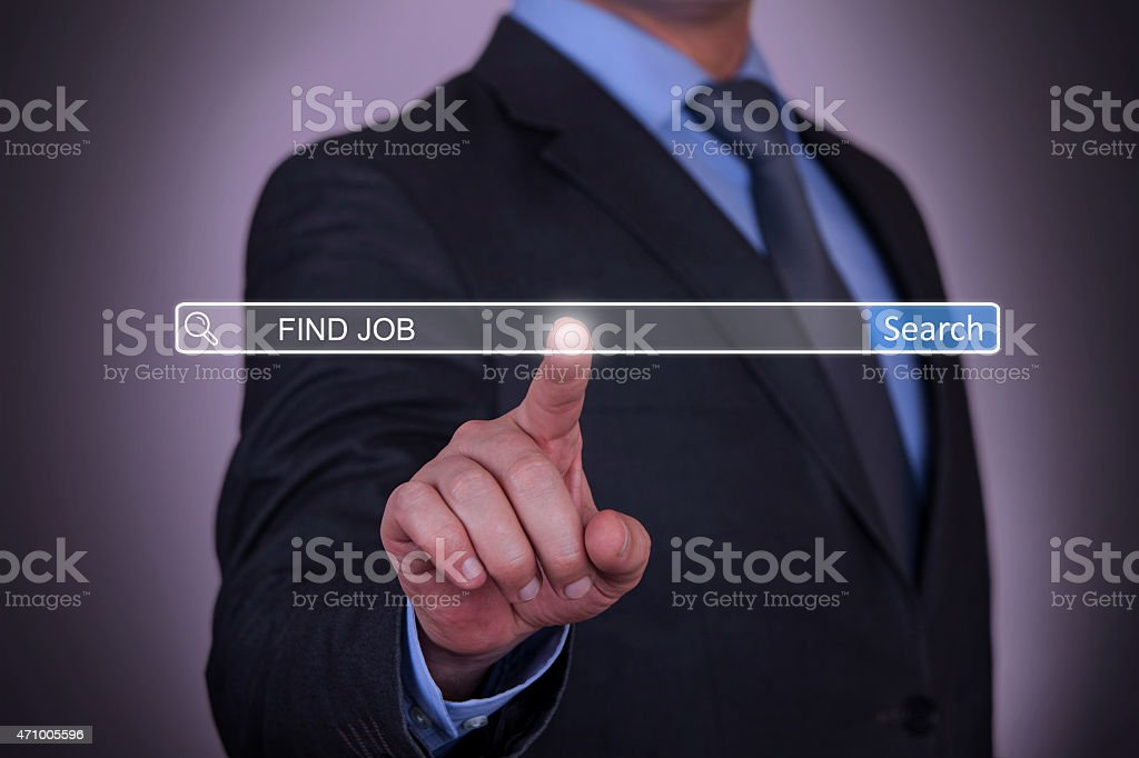 Find Job Search Button stock photo