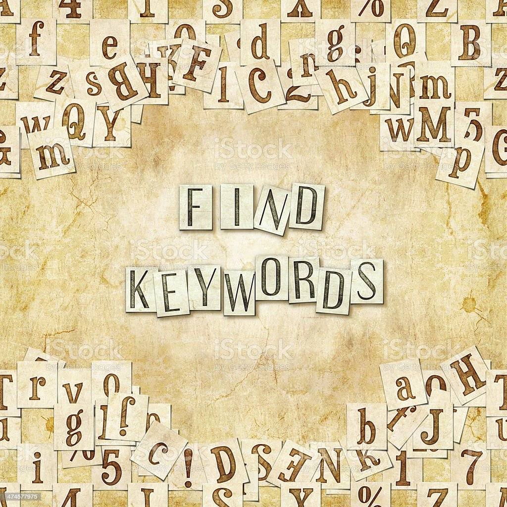 find keywords stock photo