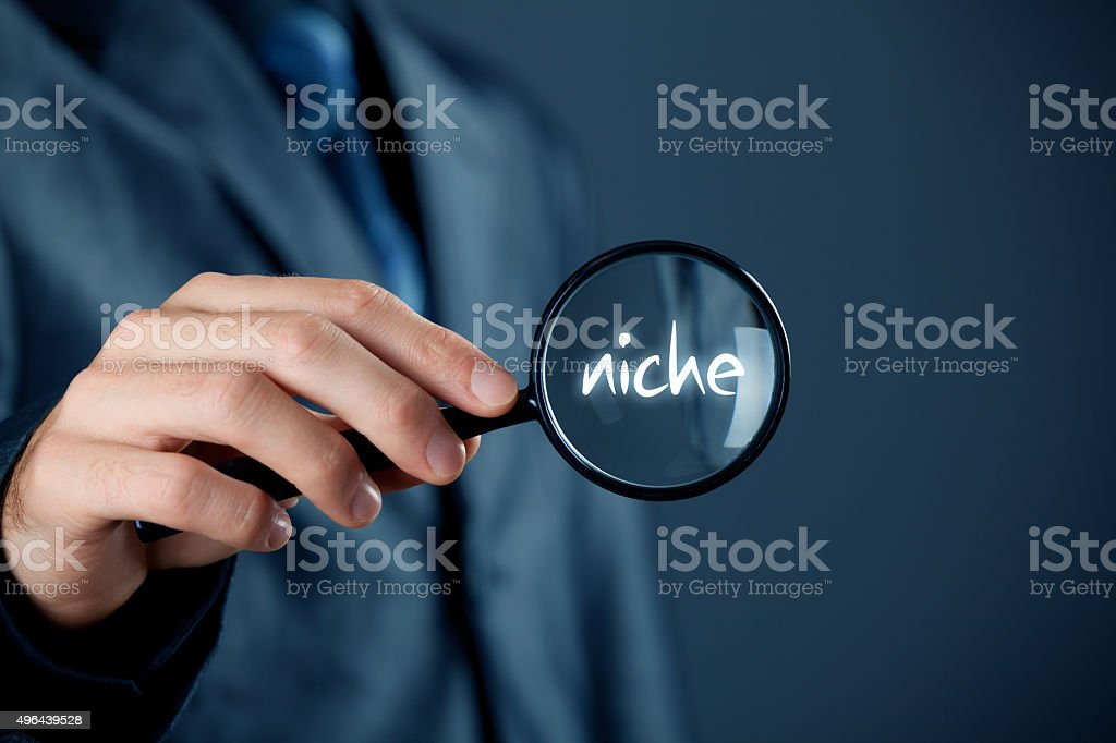 Find market niche stock photo
