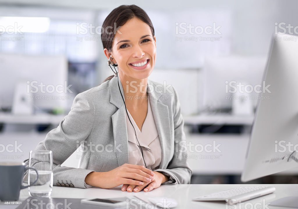 I find new satisfaction in my work each day! stock photo