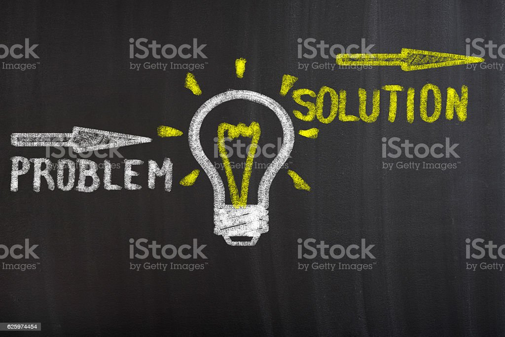 Find solution concept stock photo