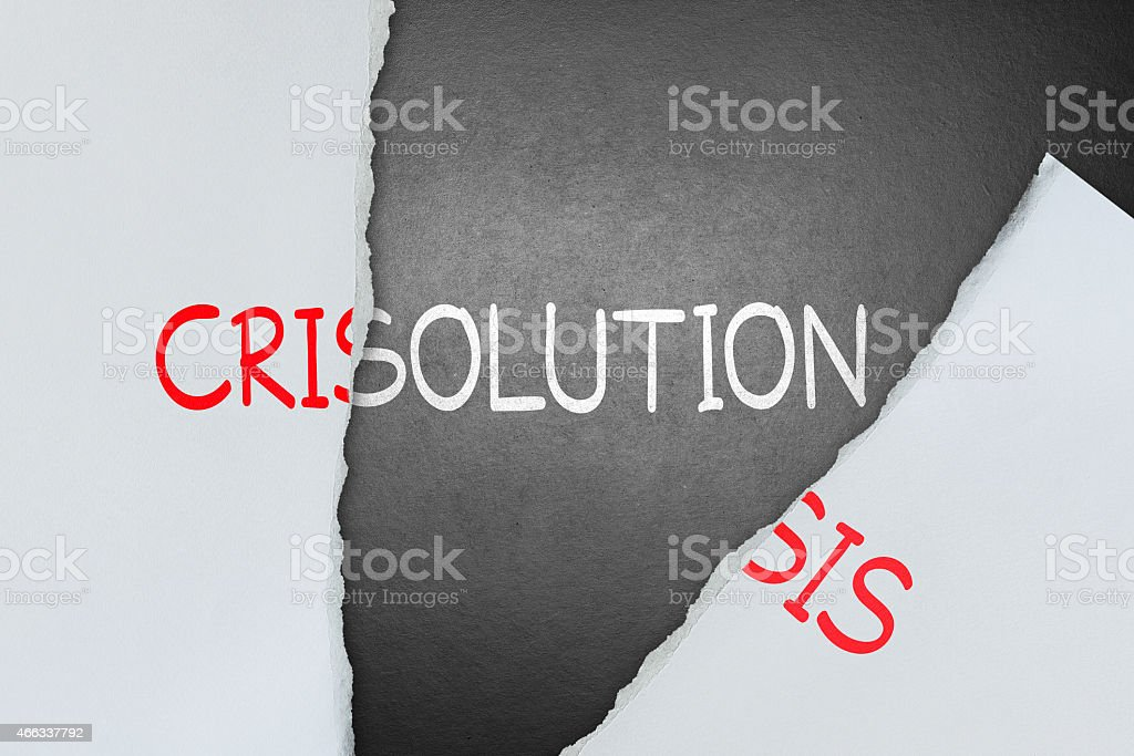 Find solution for crisis stock photo
