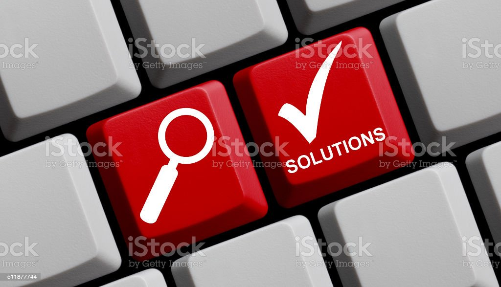Find Solutions online stock photo
