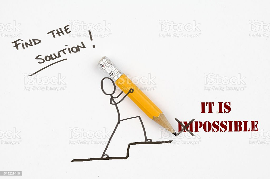 Find the solution! It is possible stock photo