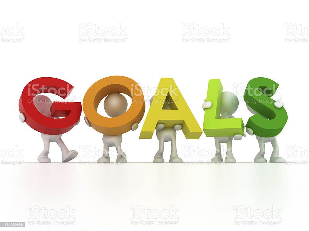 Find your Goals stock photo