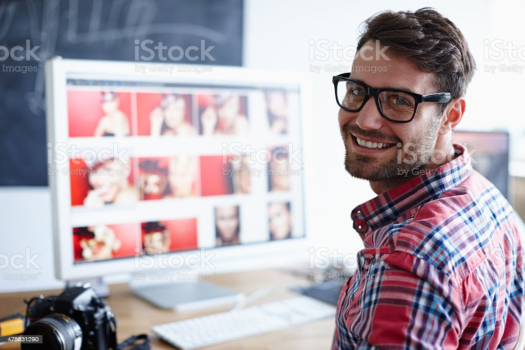 Find your place in the working world stock photo