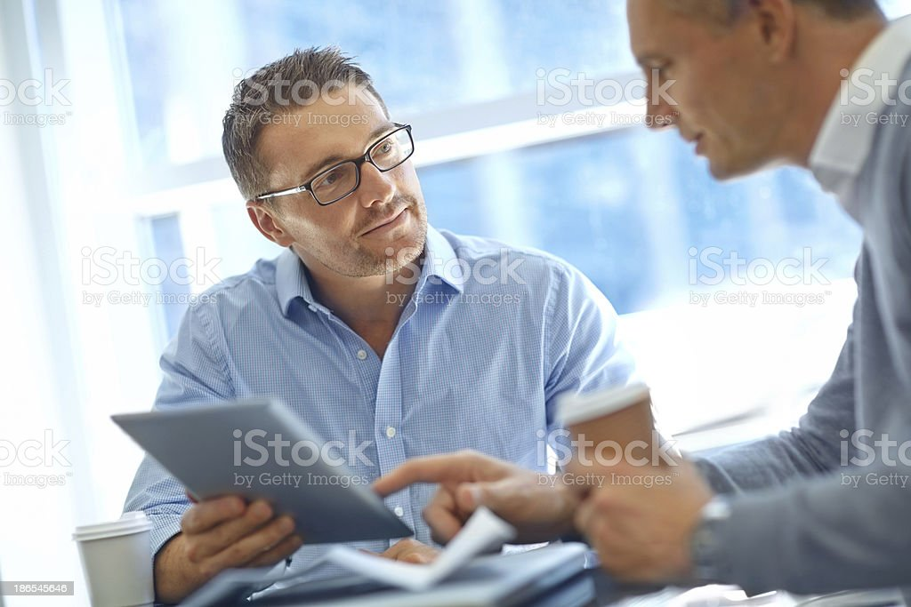 I find your proposal intriguing... royalty-free stock photo