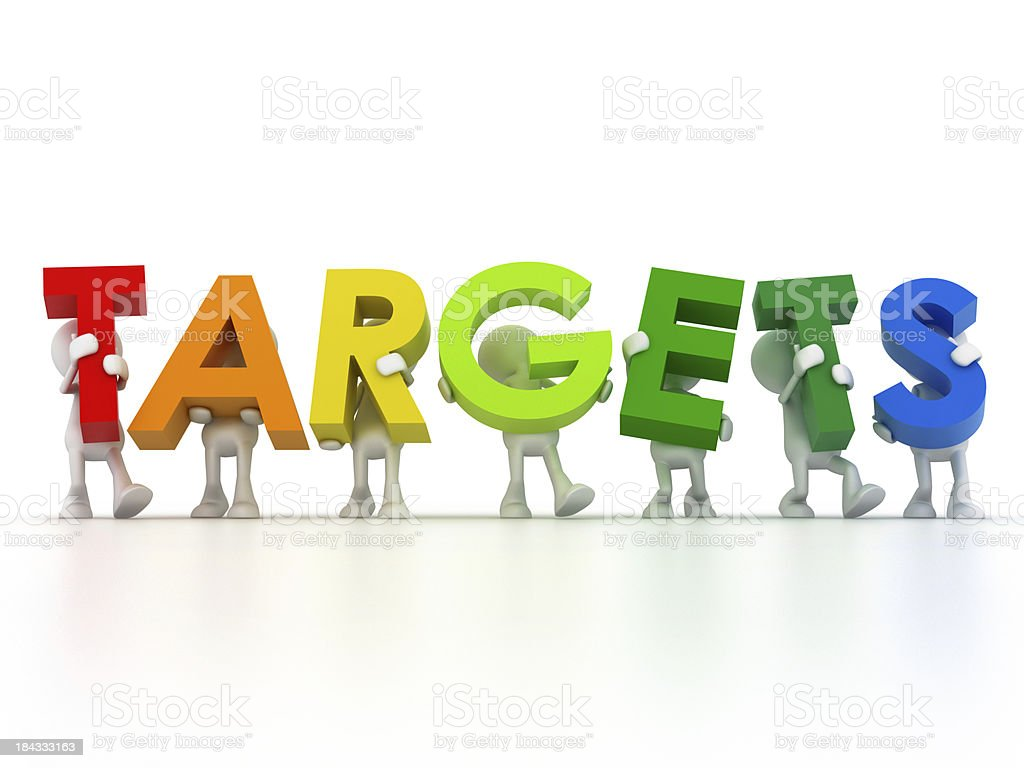 Find your targets royalty-free stock photo