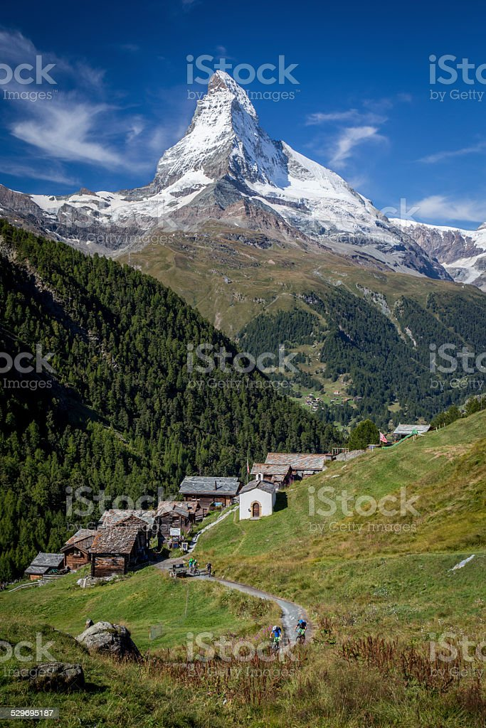 Findeln and the Matterhorn stock photo