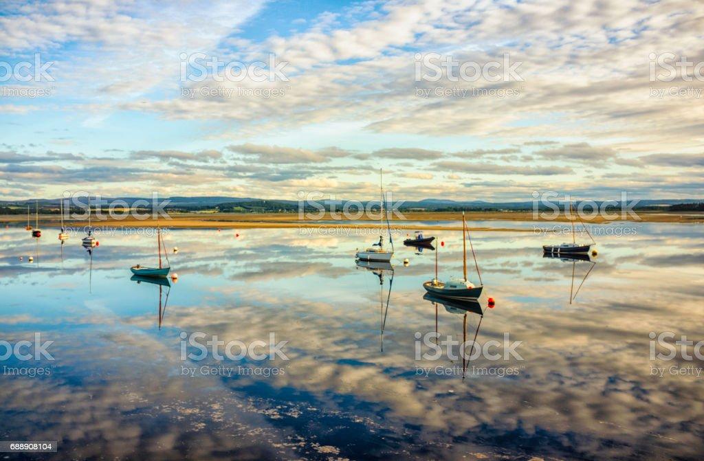Findhorn Bay Scotland stock photo