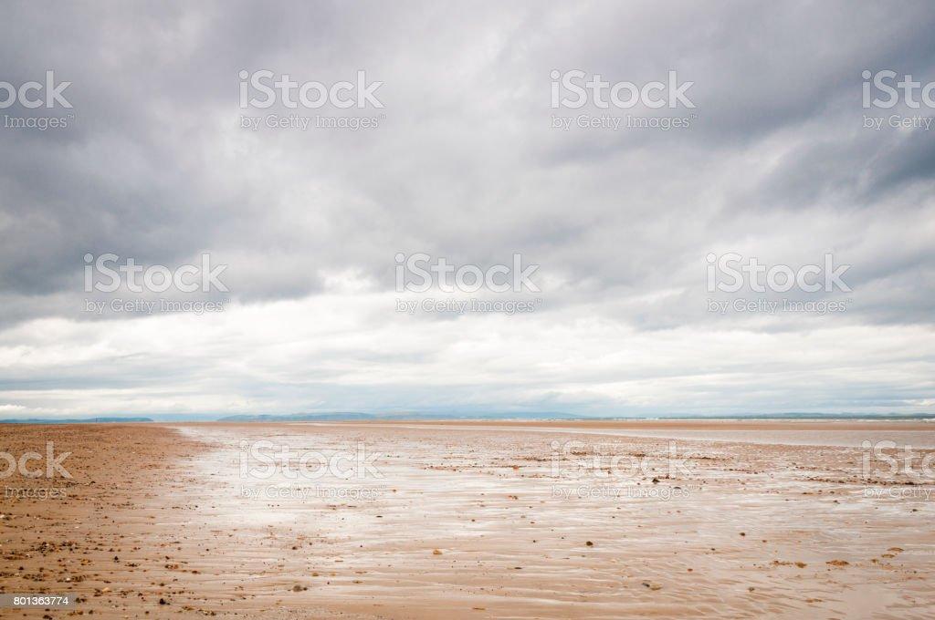 Findhorn Beach stock photo