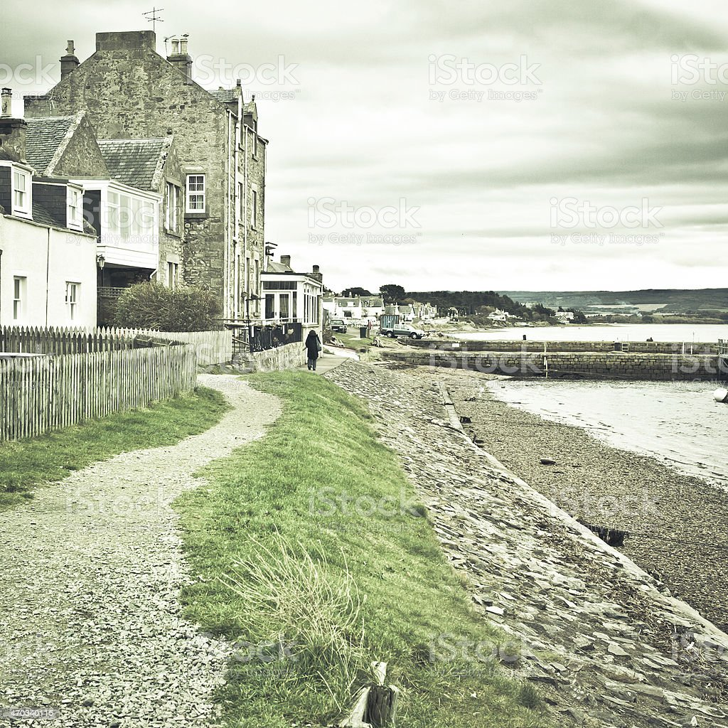 Findhorn path stock photo