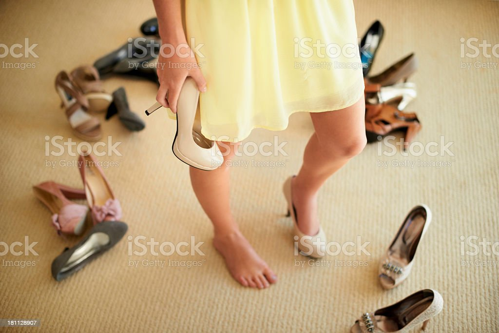 Finding a balance between style and comfort royalty-free stock photo