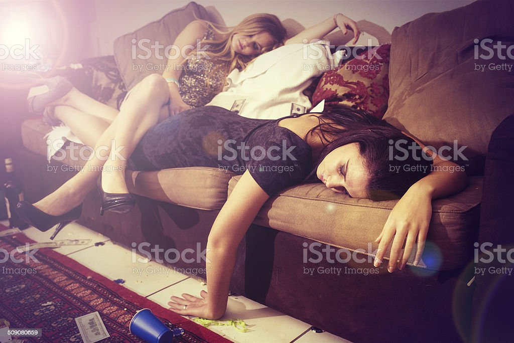 Finding a comfortable place to pass out stock photo