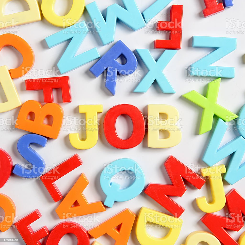 Finding a Job royalty-free stock photo