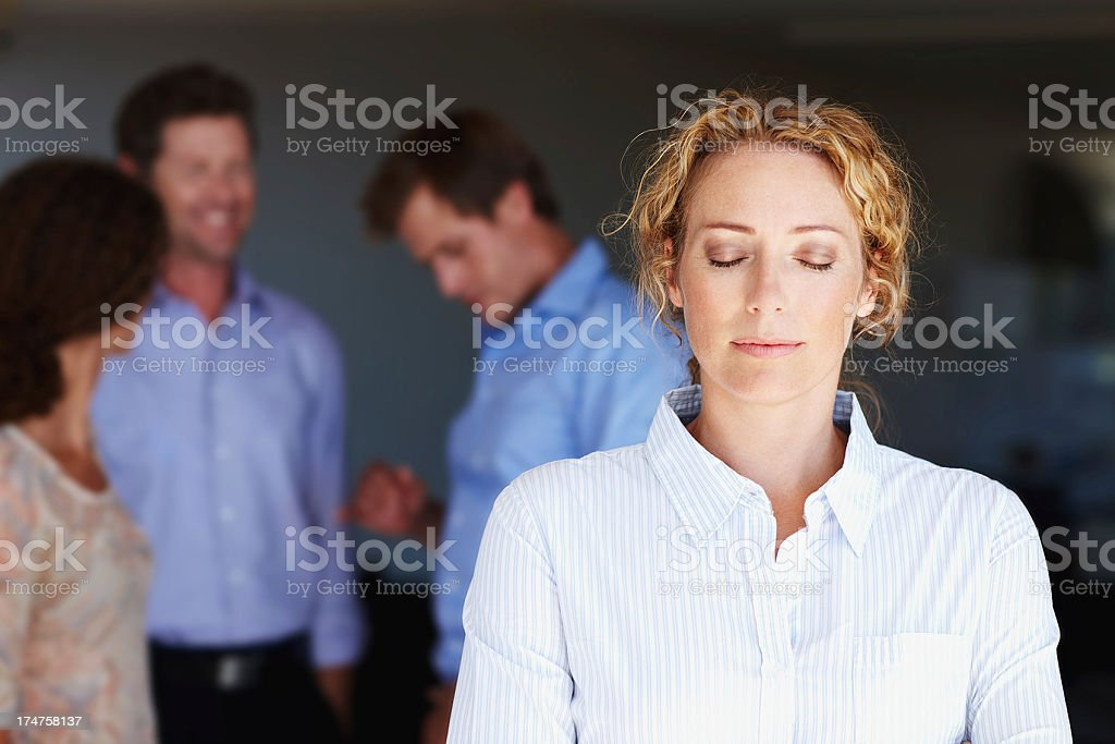 Finding a moment of calm stock photo