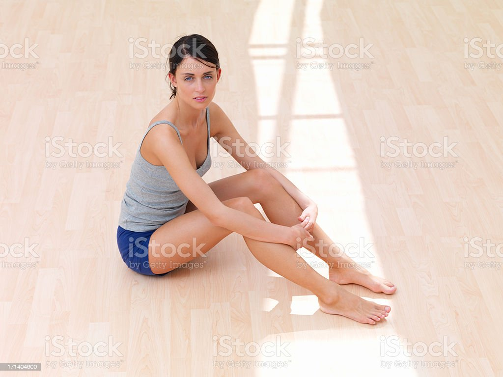 Finding a quiet space to find my balance royalty-free stock photo