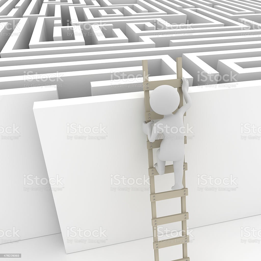Finding a solution royalty-free stock photo