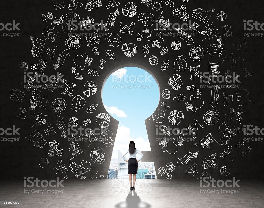 Finding a solution stock photo
